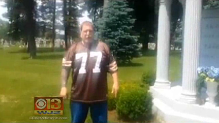 Charges authorized against Browns fan who urinated on Modell's grave [WJZ Video]