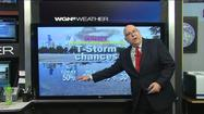 Video: Cold air brings chance of storms