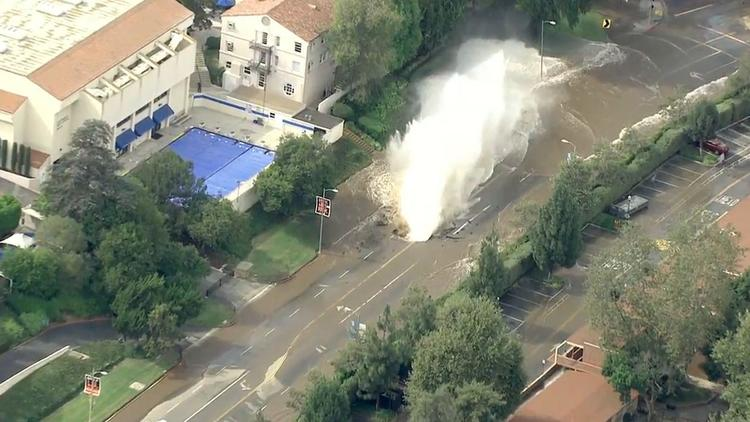 Water main break near UCLA