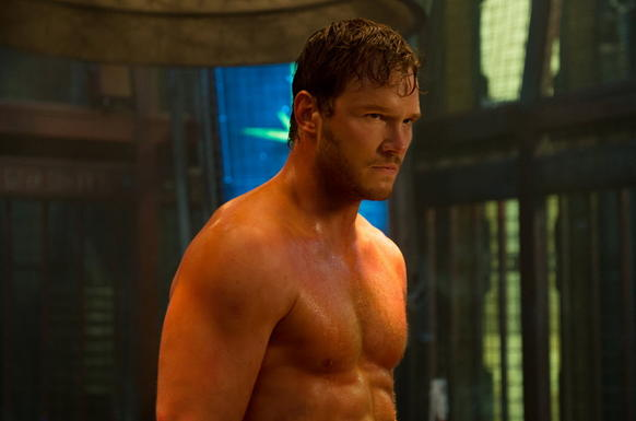 Chris Pratt stars in 'Guardians Of The Galaxy.' For six months, Pratt went on a strict training regimen and diet. He dropped 60 pounds for role&mdashland the shirtless scenes.