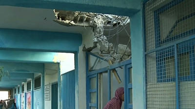 Raw: Weapons Fire Hits UN School in Gaza
