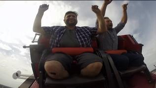 Man loses 120 lbs, rides first roller coaster in 10 years