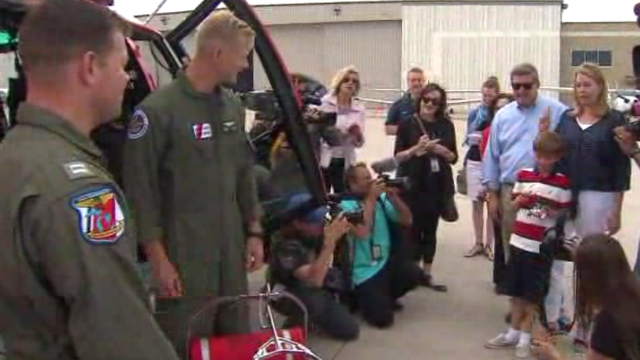 Boy reunited with Coast Guard team who rescued him