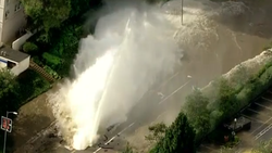 Stunning images from the UCLA water main break