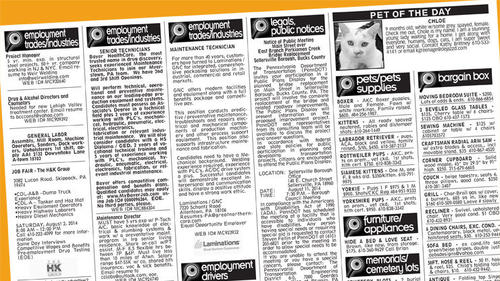 newspaper classifieds s wanted Melbourne