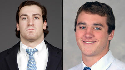 Chad Rafferty (right), a 5-foot-9, 175-pound long-pole defenseman, did not play as a freshman this past spring at Maryland. At left is Danny Simonetti, who is transferring from Ohio State to Loyola Maryland.