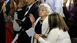 100-year-old becomes U.S. citizen on birt