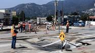 Crews dig in to fix underground pipeline from sinkhole incident