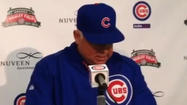 Video: Cubs manager Renteria on starter Wood