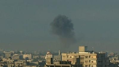 Raw: Smoke, Explosions Fill Gaza Skyline