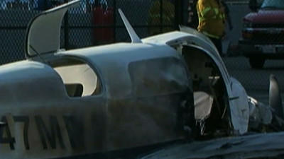 Small Plane Crash in San Diego Parking Lot