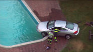 Man who drove into backyard pool charged with DUI