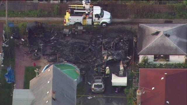Garage explosion in Cook County