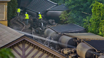 Worn, fractured rail caused Ellicott City train derailment, NTSB determines