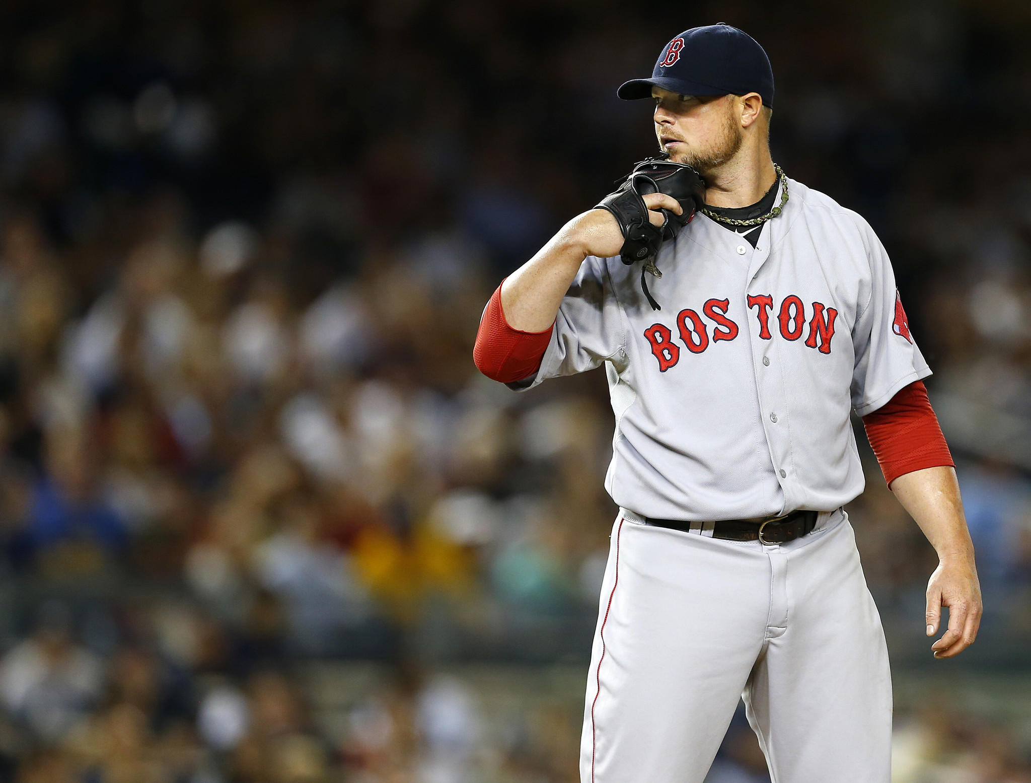 According to reports July 30, 2014, Boston Red Sox starting pitcher Jon Lester has been pulled from his July 30, start, one day before the trade deadline.