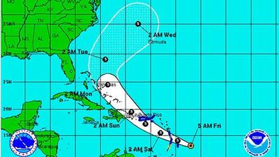 Tropical Storm Bertha forms; pushes toward Lesser Antilles