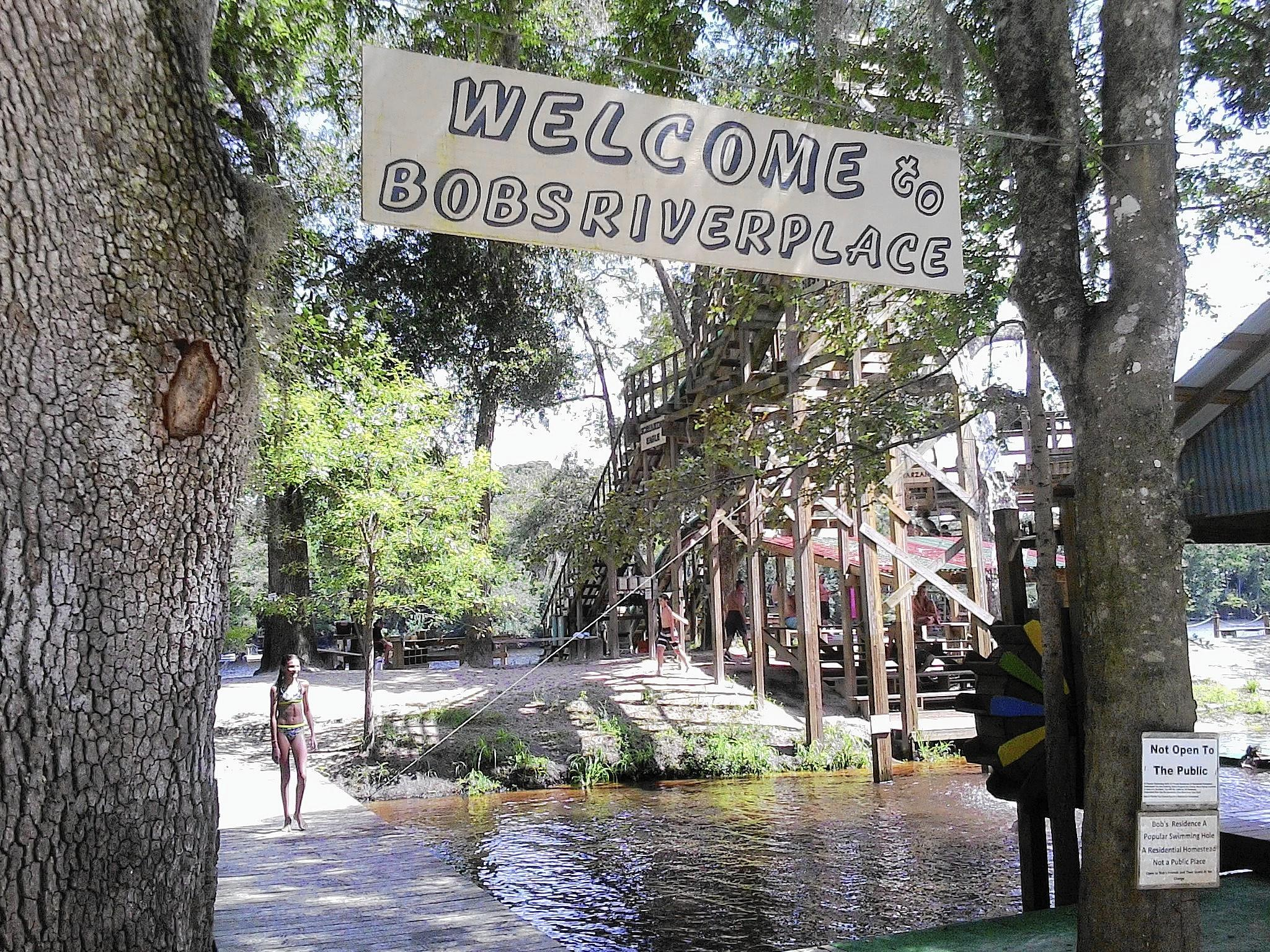 For more than 40 years, Bob's River Place has been an old-fashioned swimming hole on the Suwannee River in rural Dixie County, northwest of Gainesville.