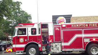 Video: Hampton Burger King damaged in fire