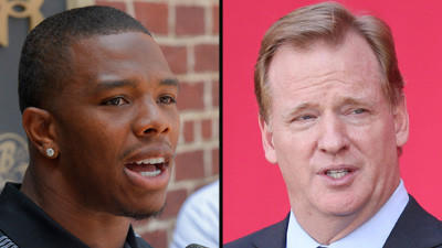 Roger Goodell defends two-game suspension of Ravens' Ray Rice