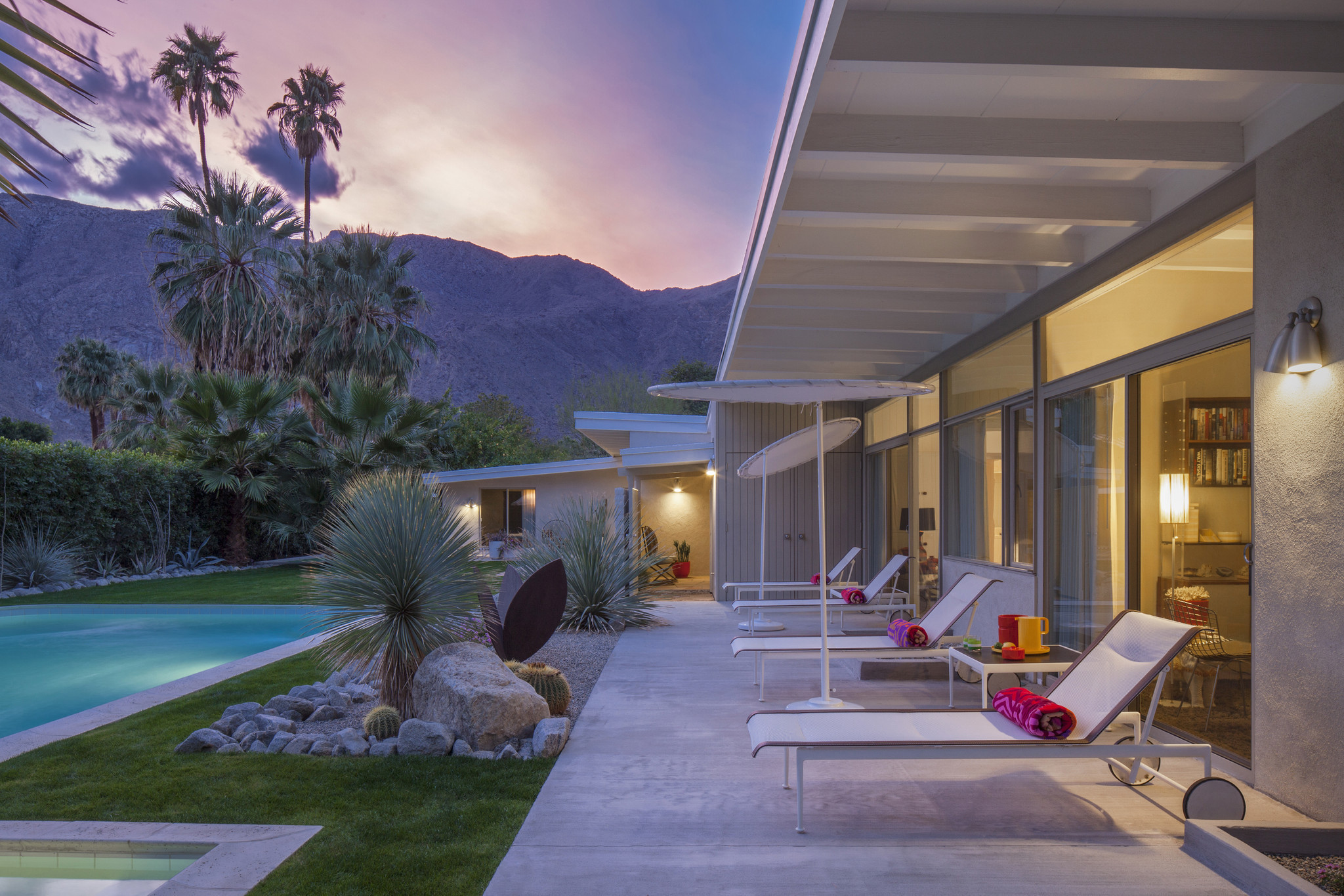 sleek donald wexler home in palm springs revealed beneath its