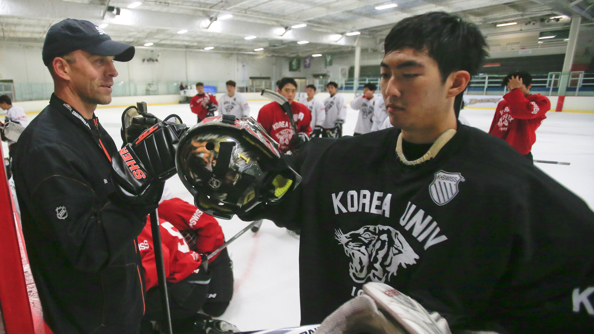 Korea University hockey team brings its training to California