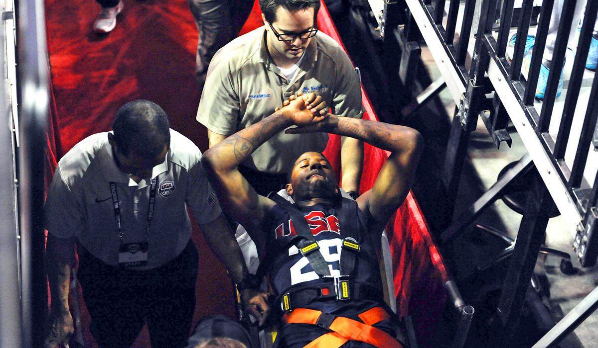 La Sp Sn Paul George Injury Leg Fracture 20140802