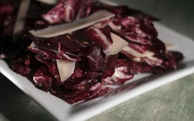 Radicchio salad with mustard vinaigrette