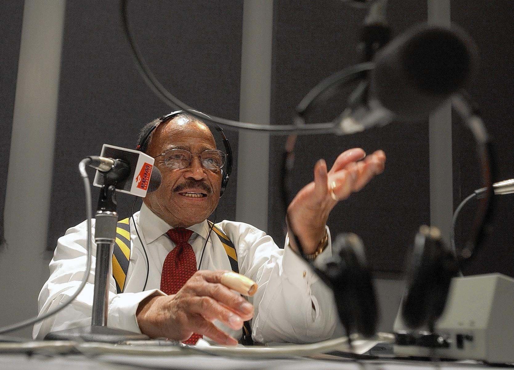 George W. Collins, a former Afro editor and reporter, hosted a local radio show at WEAA-FM in 2003.
