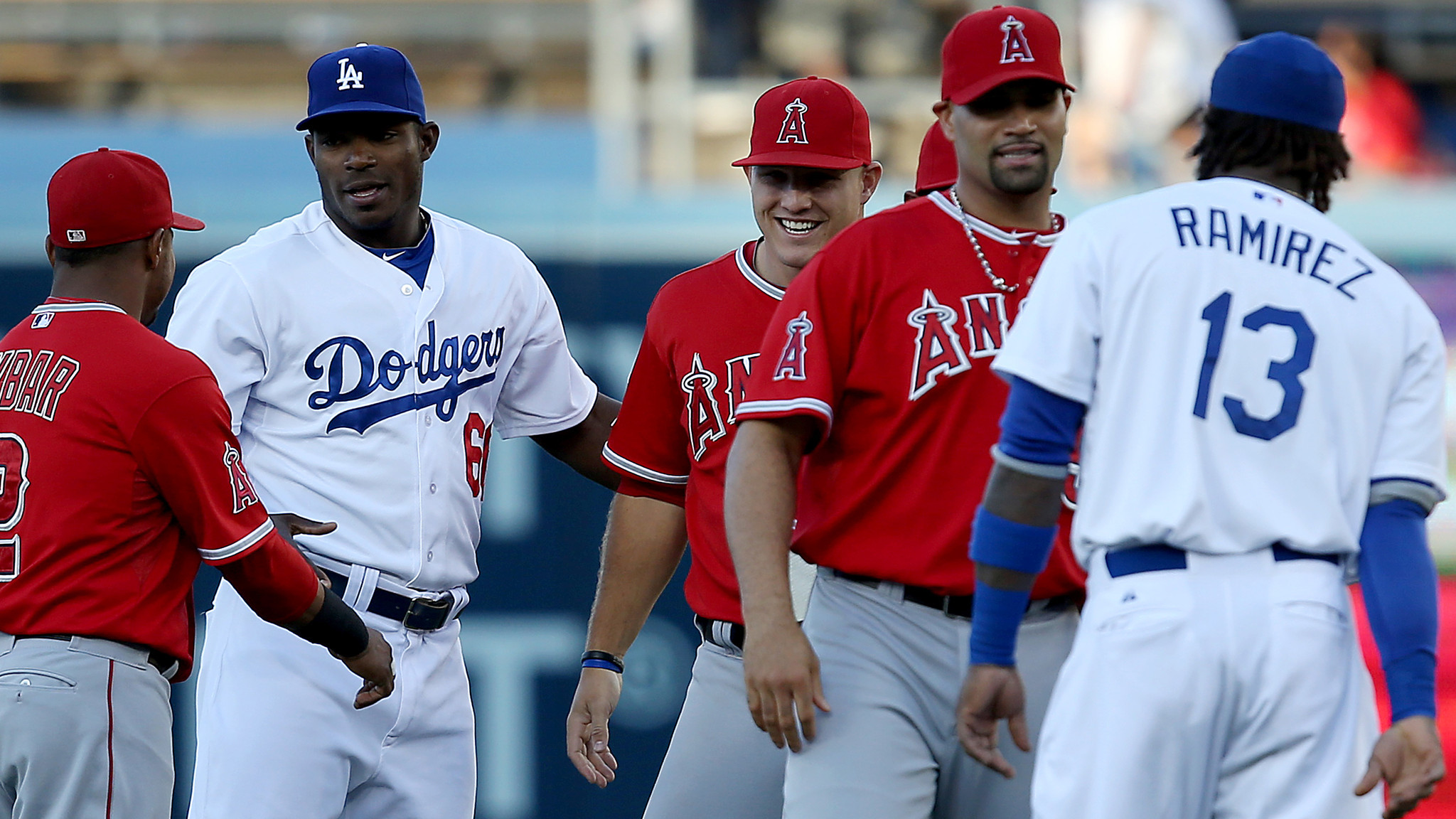 freeway series angels  dodgers la times
