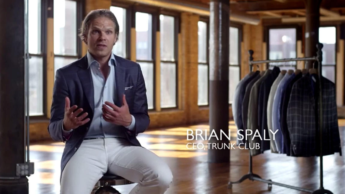 There is no substitute for personalization -- Brian Spaly, CEO of Trunk Club