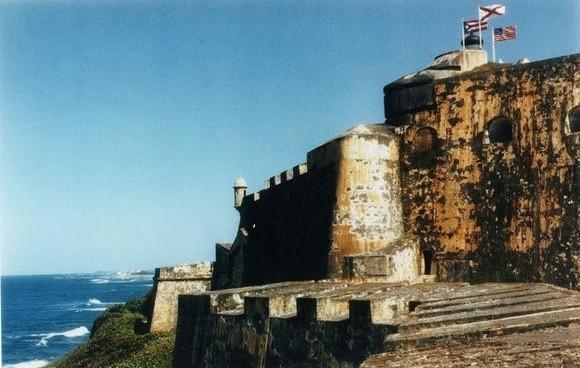 El Morro, the massive Spanish fort in San Juan Puerto Rico.