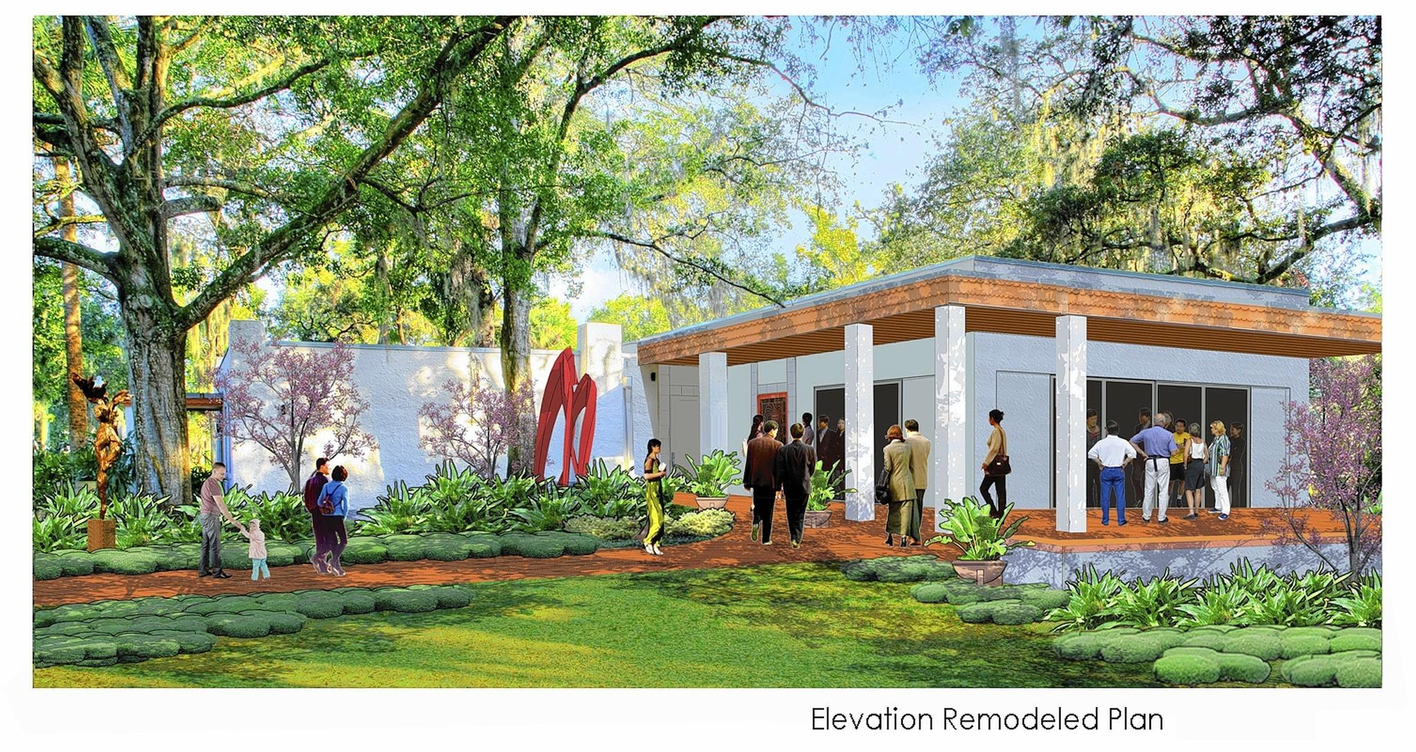 A rendering of the renovated Germaine Marvel Building at the Art & History Museums -- Maitland.