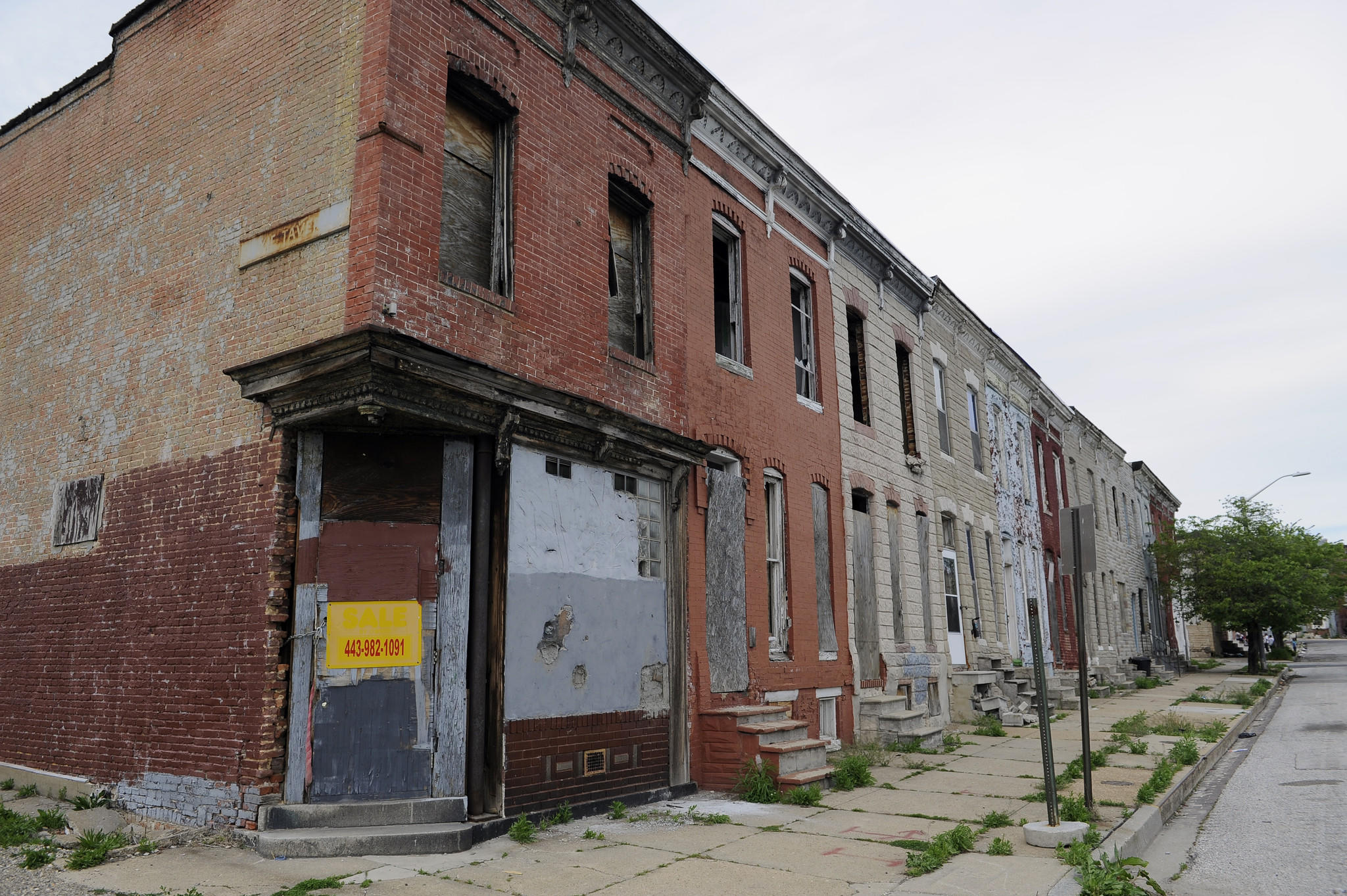 Part of the 500 block of Baker Street, as viewed in May. Not all types of crime are equally associated with vacant properties, a Sun analysis has found.