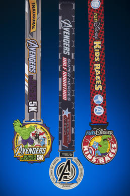 Officials with RunDisney have revealed the inaugural collection of Avengers Super Heroes Half Marathon Weekend finisher medals.