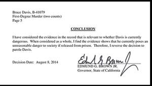 Read Gov. Brown's decision to deny parole