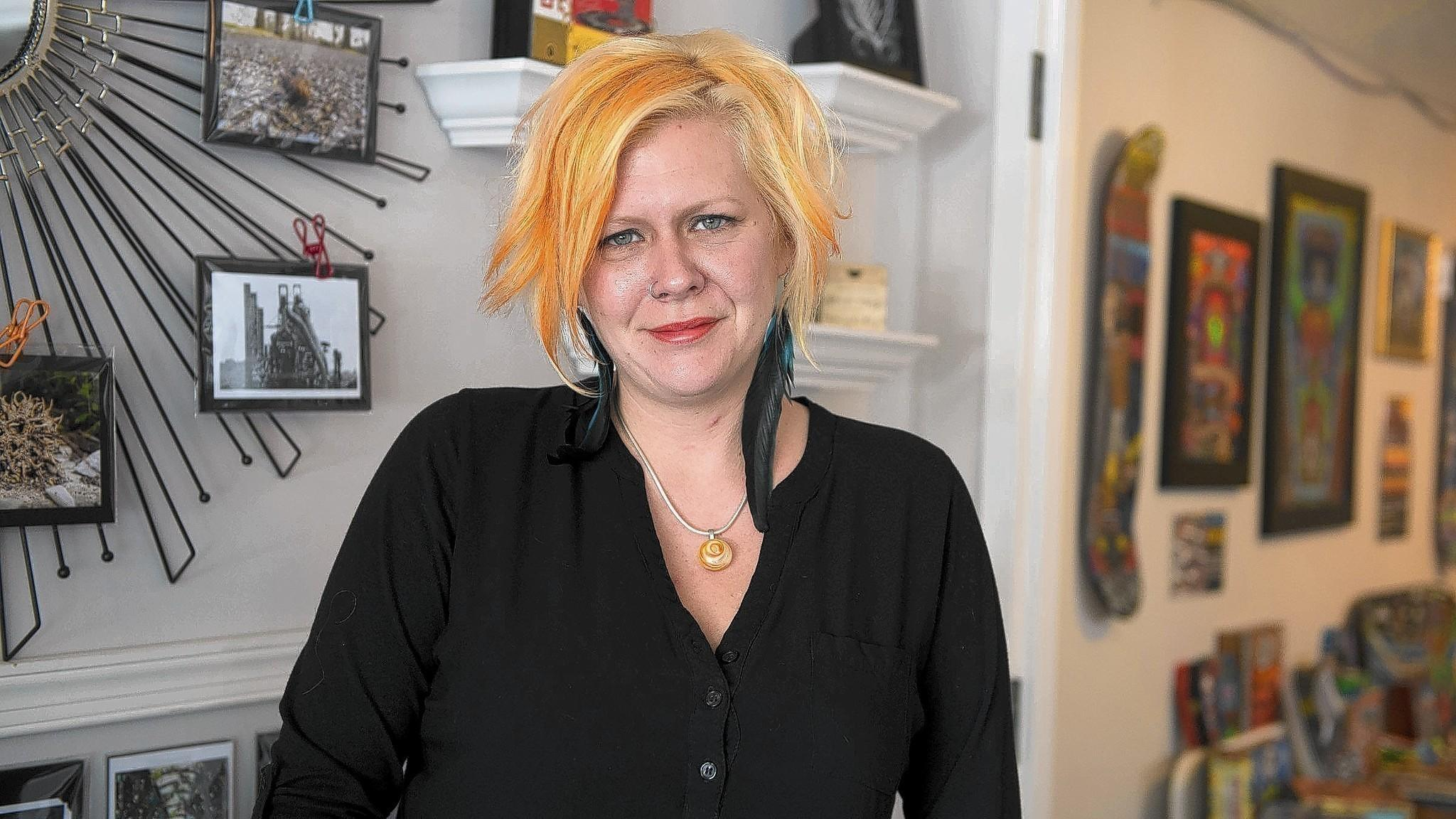 "Leslie Gerhart's new Allentown art studio and gift shop, Glossy Stones, aims to provide ""a vibrant environment to learn, share, create, laugh and heal through artwork."""