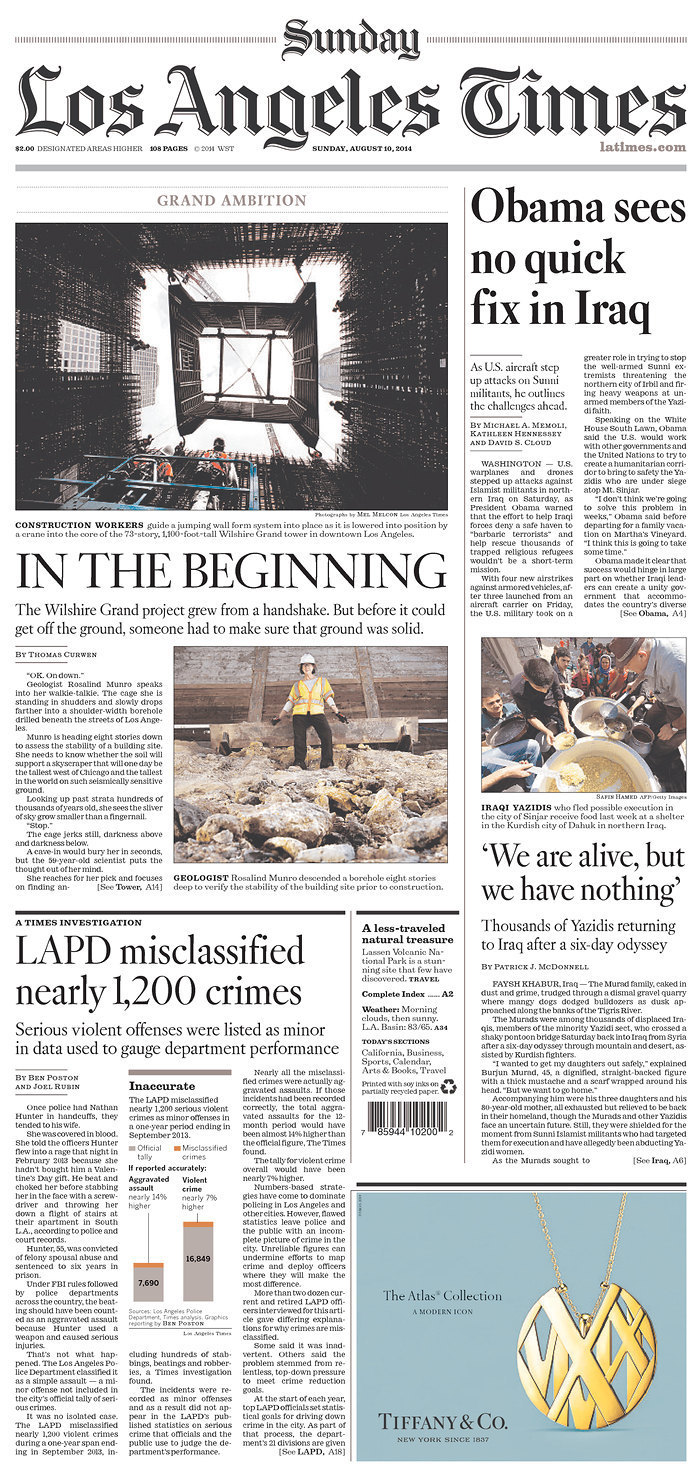 Los Angeles Times | Sunday, August 10, 2014