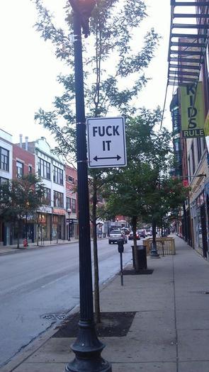 Wicker Park Street Sign