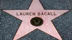 Find Lauren Bacall's star on the Walk of Fame