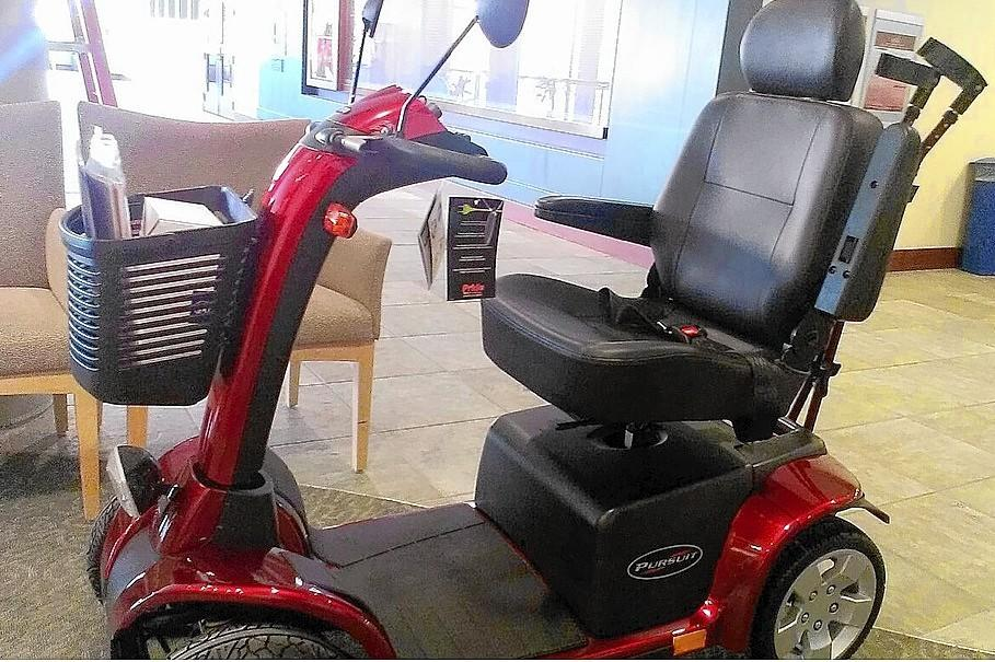 This scooter stolen Sunday night from the driveway of of Jason Stauffer, a 33-year-old Allentown man who suffers from cerebral palsy, was recovered by police Monday.