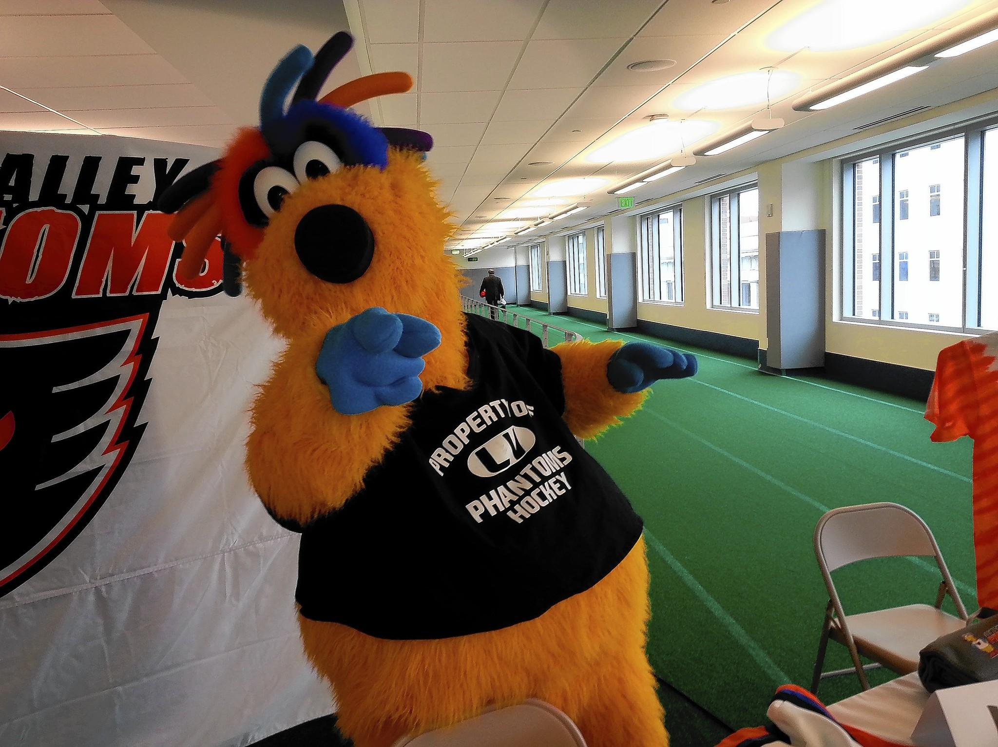 The Lehigh Valley Phantoms introduced their new mascot MeLVin on Tuesday.