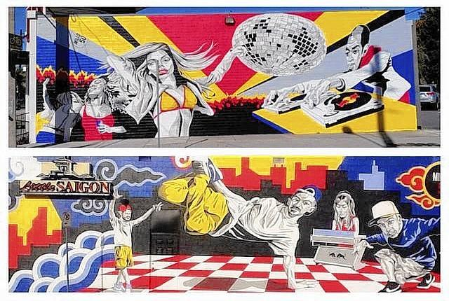 Murals by Andrew Spear in the Mills 50 neighborhood of Orlando.