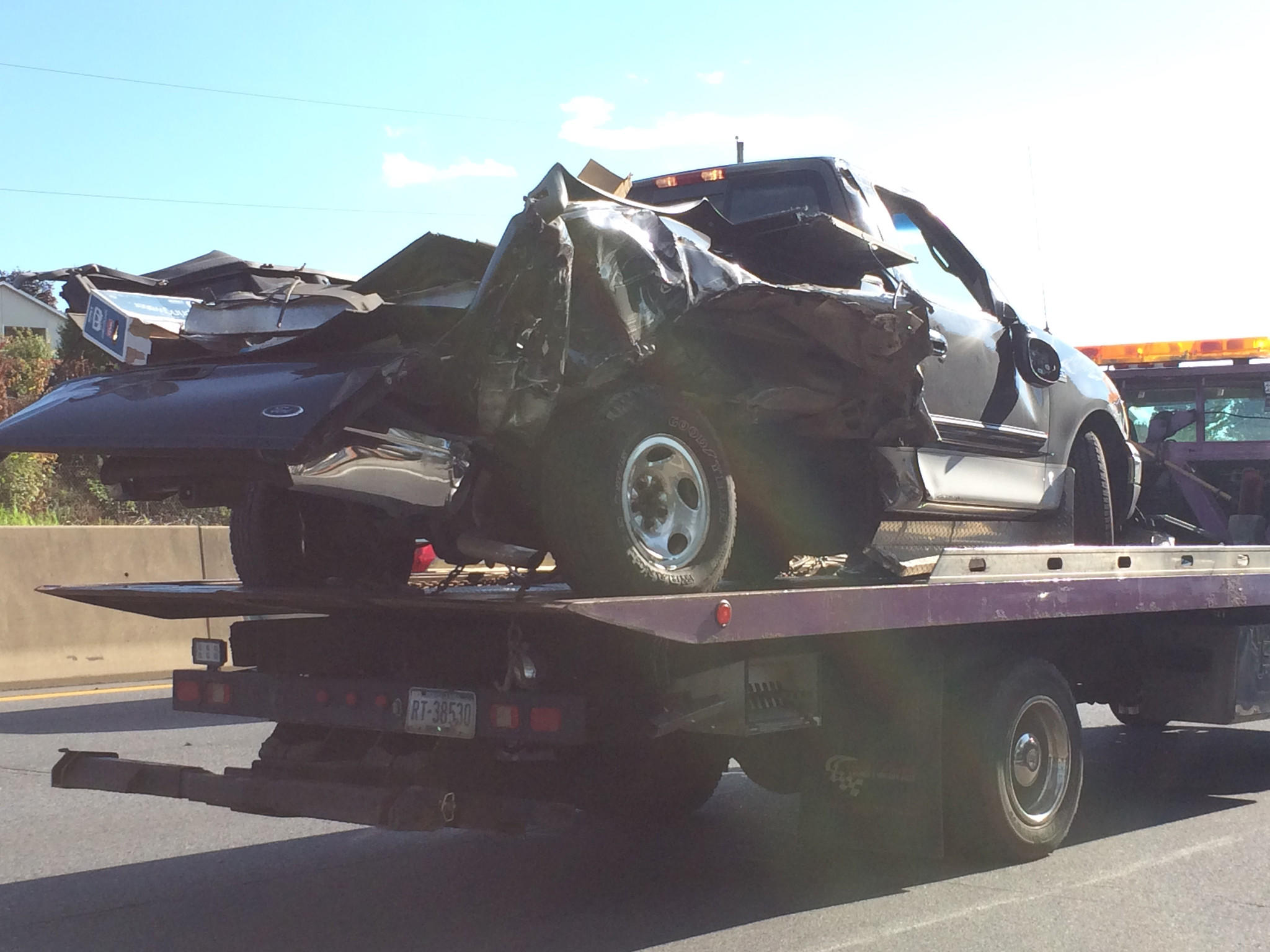 Five vehicles crashed in the westbound lanes of Route 22 in Bethlehem Township on Wednesday afternoon.