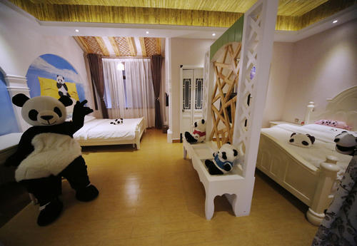 The Panda Inn, which began welcoming guests in February, will officially open in May.