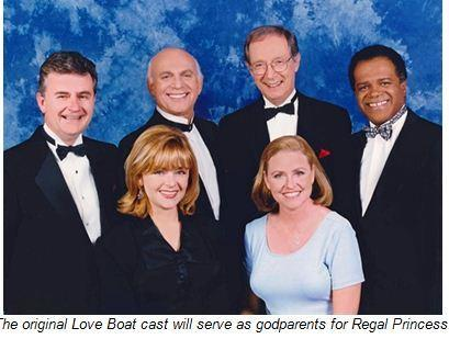 "The original ""Love Boat"" cast will serve as godparents for Regal Princess, which will be christened in a Nov. 5 ceremony at Port Everglades in Fort Lauderdale."