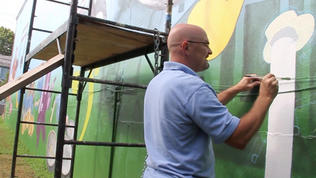 Artist paints mural to welcome passersby to Catonsville  [Video]