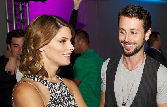 Ashley Greene and Paul Khoury attend the W Chicago Lakeshore Renovation Reveal Party on July 31, 2014 in Chicago, Illinois.