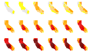 189 drought maps reveal just how thirsty California has become