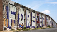 Vacant home, part of East Baltimore 'Forever Together' mural, catches fire