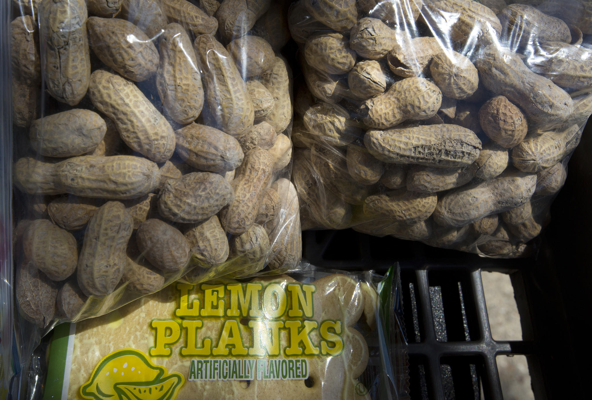 Peanuts and pastries sit on display at Leland Thompson's food stand near 41st Street and Washington Avenue in Newport News.